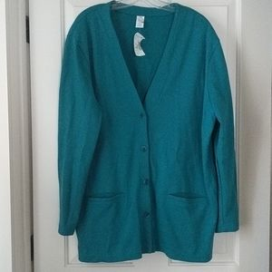 Lands' End sweatshirt cardigan